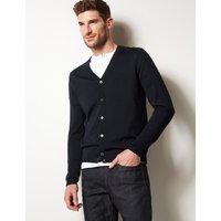 M&S Collection Pure Merino Wool Cardigan