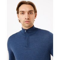 M&S Collection Pure Extra Fine Merino Wool Funnel Neck Jumper