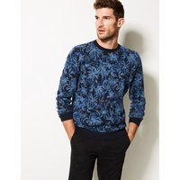 Limited Edition Pure Cotton Palm Print Jumper