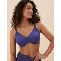 MandS Collection Cotton and Lace Underwired Minimiser Bra C-GG