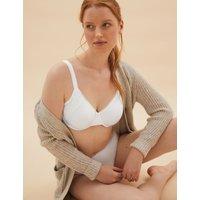 Cotton & Lace Underwired Minimiser Bra C-GG white