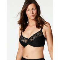 M&S Collection Floral Jacquard & Lace Minimiser Full Cup Bra C-GG
