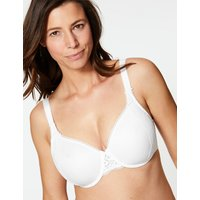 MandS Collection Vintage Lace Minimiser Non-Padded Full Cup Bra C-GG