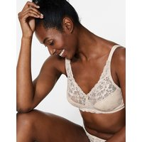 MandS Collection Jacquard Lace Non-Padded Full Cup Bra A-DD