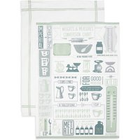 Set of 2 Core Print Mix & Measure Tea Towels