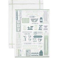 Set of 2 Core Print Mix & Measure Tea Towels