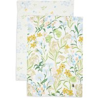 Set of 2 Floral Design Tea Towels