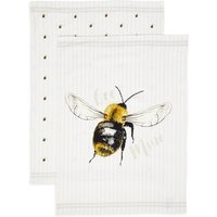 Set of 2 Core Print Bee Tea Towels