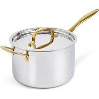 M&S chef Chef Tri Ply 20cm Saucepan