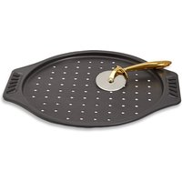 M&S chef Chef Steel Pizza Cutter & Tray