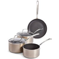 Set of 4 Metallic Effect Pans