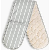 Butcher's Stripe Double Oven Mitt