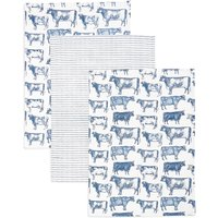 3 Pack Country Cow Kitchen Print Bale