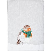 Cotton Robin Print Tea Towel
