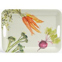 Melamine Vegetable Print Tray