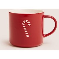 M&S Candy Cane Mug - 1SIZE - Red Mix, Red Mix