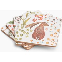 Set of 4 Woodland Print Coasters