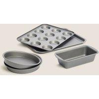 MandS 5 Piece Bakeware Set - 1SIZE - Silver, Silver