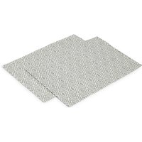 Set of 2 Diamond Geometric Print Placemats