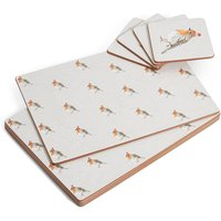 Robin Hard Mat & Coaster Set