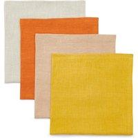 Set of 4 Sun-baked Linen Napkins