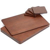 Wood Veneer 8 Piece Placemats & Coasters Set
