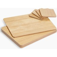 Wood Veneer 8 Piece Placemats & Coasters Set