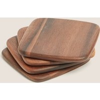 4 Pack Acacia Wood Coasters