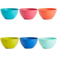 Set of 6 Plastic Bowls