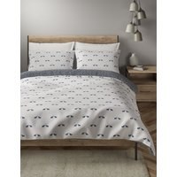Brushed Cotton Elephant Print Bedding Set