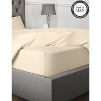 Egyptian Cotton 230 Thread Count Extra Deep Fitted Sheet cream