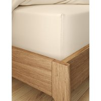 Percale Extra Deep Fitted Sheet cream