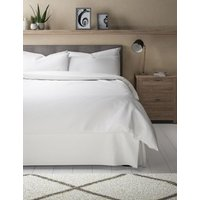 MandS Cotton Rich Percale Valance Sheet - 6FT - White, White