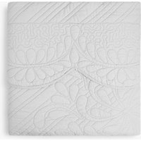 Cotton Trapunto Embroidered Bed Throw