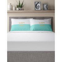 Sleepy Head Slogan Pillowcase