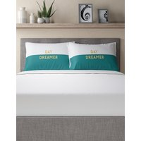 Day Dreamer Slogan Pillowcase