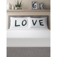 Set of 2 Love Slogan Pillowcases