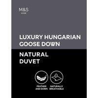 Luxury Hungarian Goose Down 4.5 Tog Duvet white