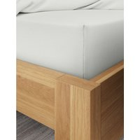 Percale 300 Thread Count Deep Fitted Sheet grey
