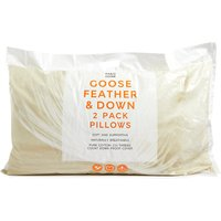 2 Pack Goose Feather and Down Pillows