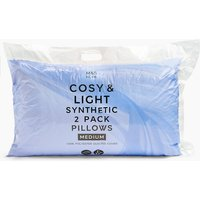 2 Pack Cosy & Light Synthetic Pillows