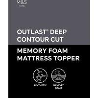 6cm Deep Contour Cut Memory Foam Mattress Topper
