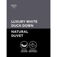 Luxury Duck Down 4.5 Tog Duvet white