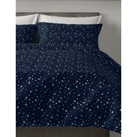 Brushed Cotton Star & Moon Print Bedding Set