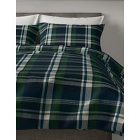 Archie Brushed Cotton Checked Bedding Set