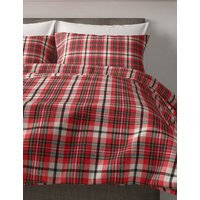 Cotton Checked Bedding Set