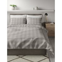 Vintage Check Brushed Cotton Bedding Set