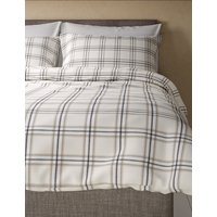Brushed Herringbone Checked Bedding Set
