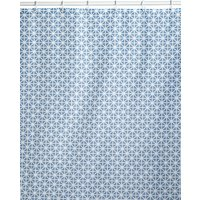 Coastal Geometric Shower Curtains