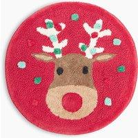 Pure Cotton Reindeer Print Bath Mat